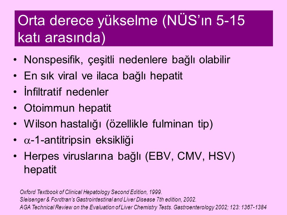 Orta derece yükselme (NÜS'ın 5-15 katı arasında)
