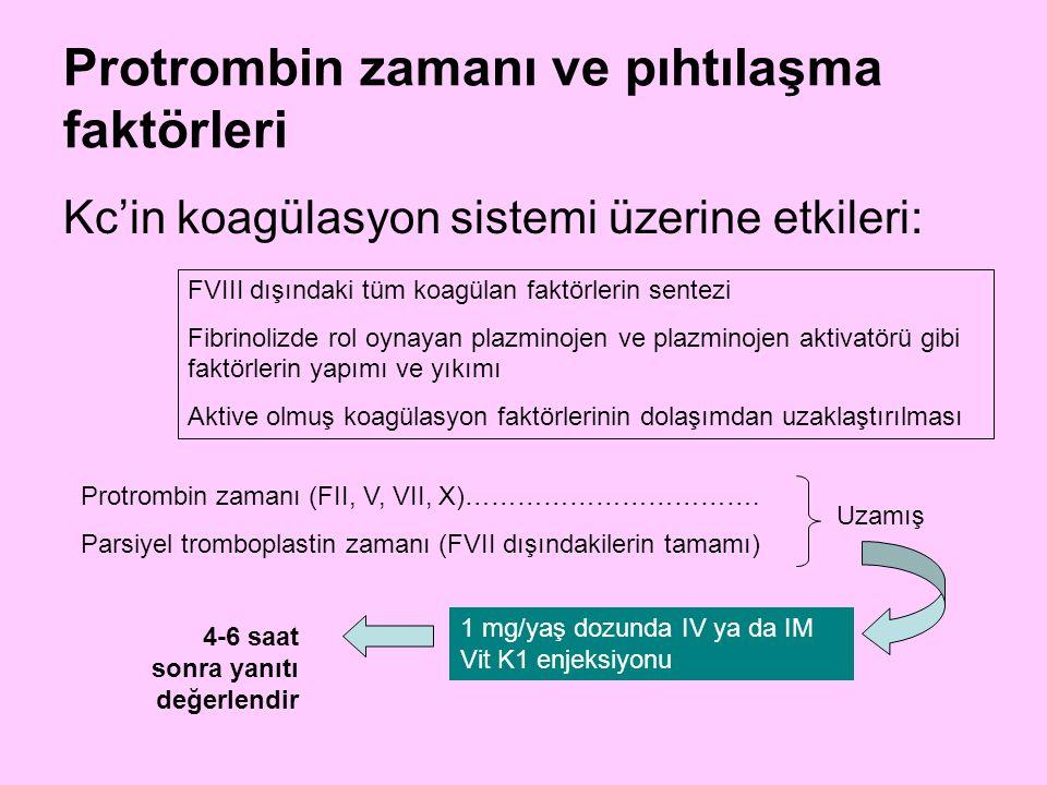 Protrombin zamanı ve pıhtılaşma faktörleri