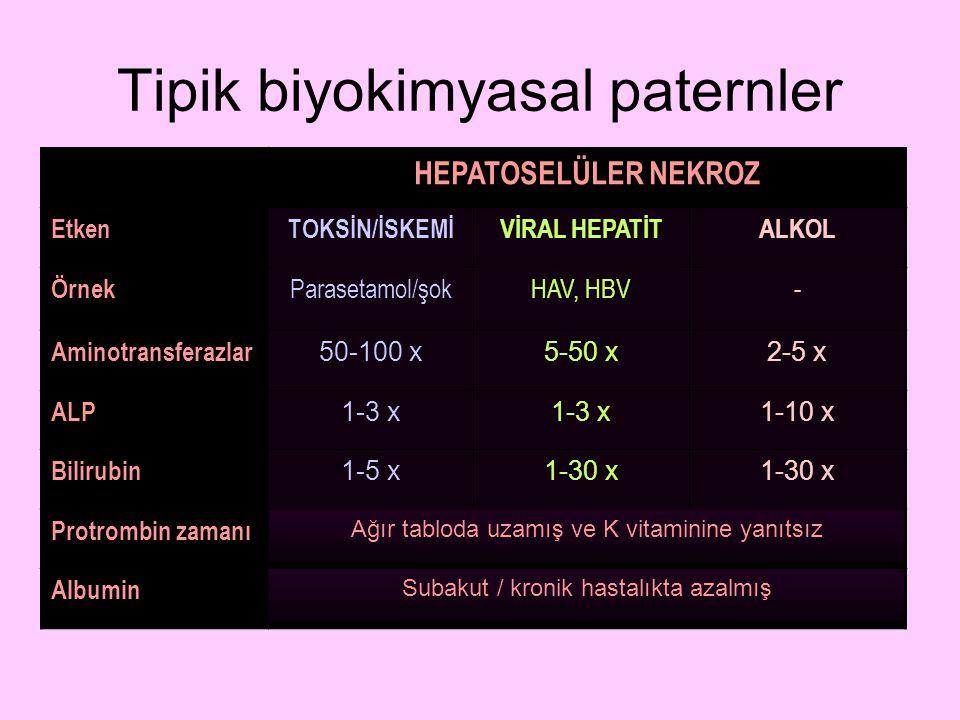 Tipik biyokimyasal paternler