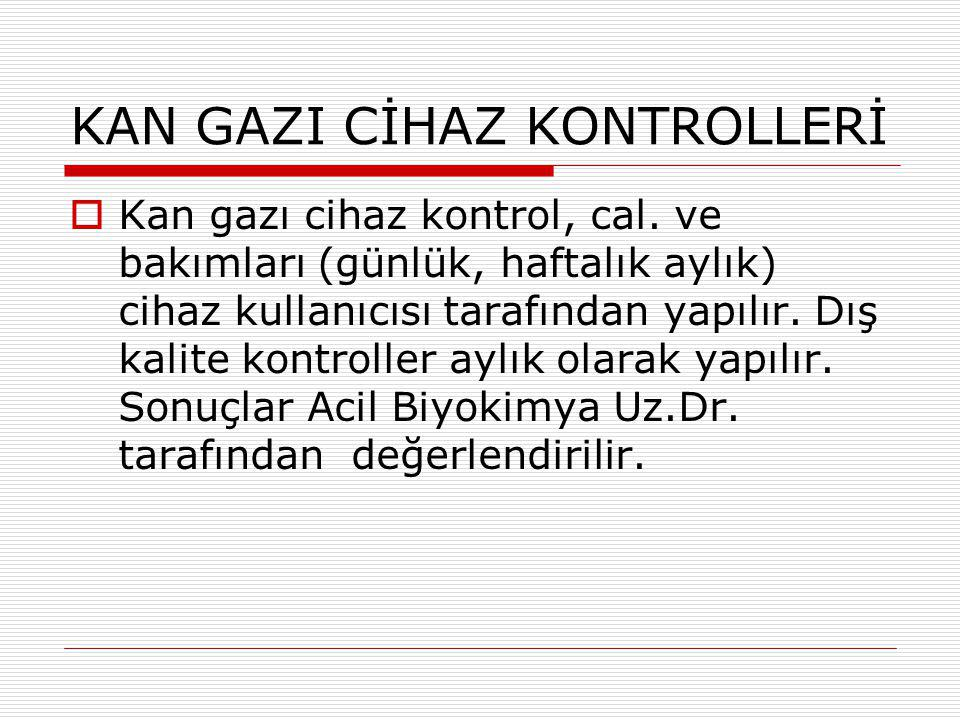 KAN GAZI CİHAZ KONTROLLERİ