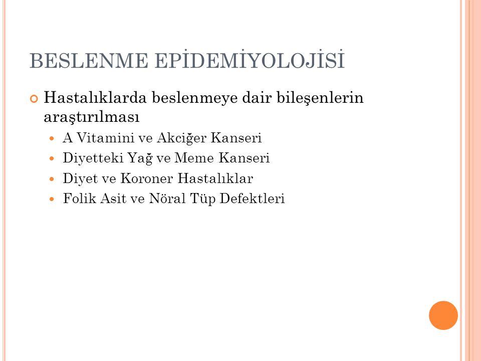BESLENME EPİDEMİYOLOJİSİ