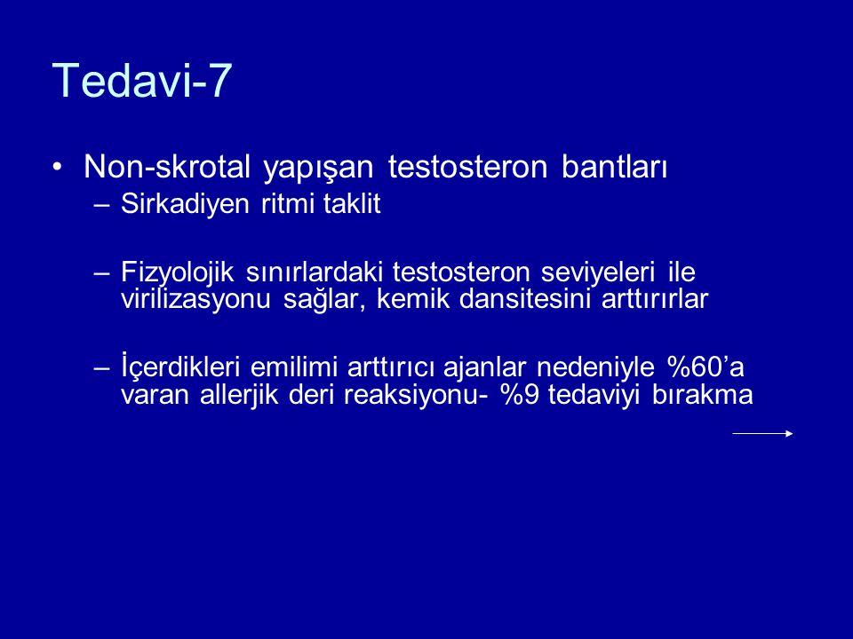 Tedavi-7 Non-skrotal yapışan testosteron bantları