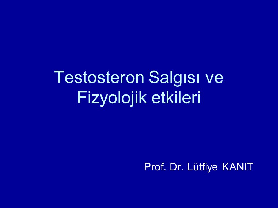 Testosteron Salgısı ve Fizyolojik etkileri