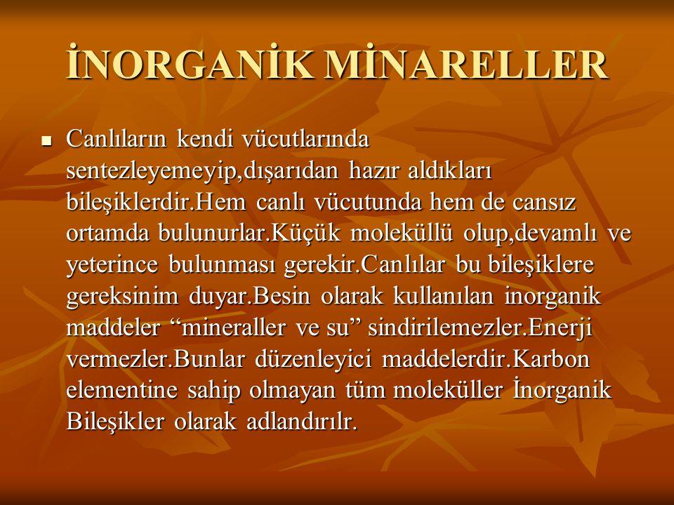 İNORGANİK MİNARELLER