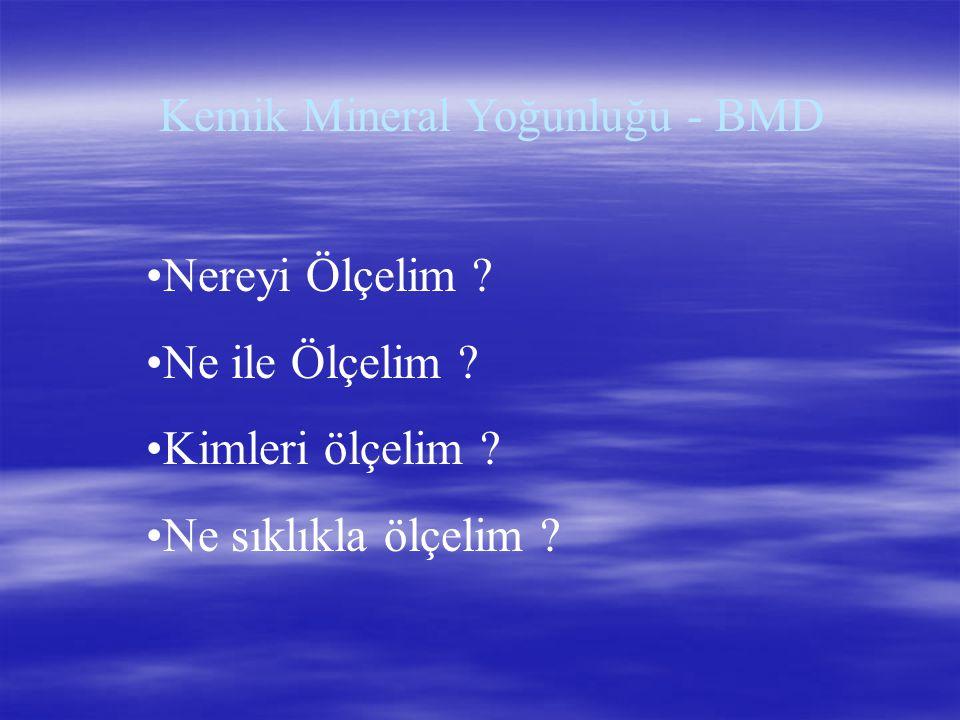 Kemik Mineral Yoğunluğu - BMD