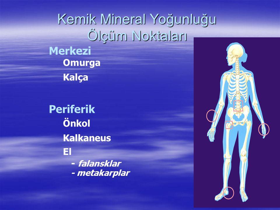 Kemik Mineral Yoğunluğu Ölçüm Noktaları