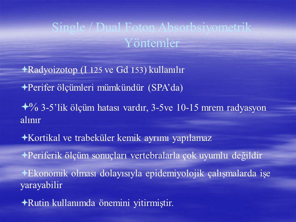 Single / Dual Foton Absorbsiyometrik Yöntemler
