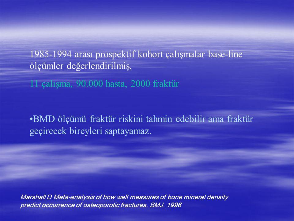 1985-1994 arası prospektif kohort çalışmalar base-line ölçümler değerlendirilmiş,