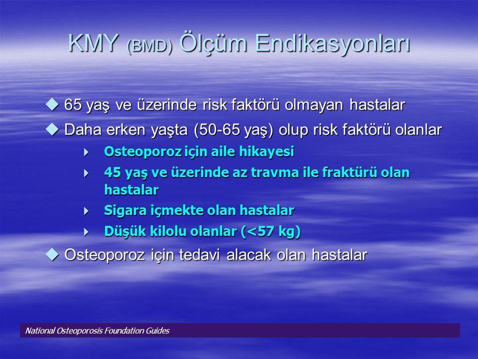 KMY (BMD) Ölçüm Endikasyonları