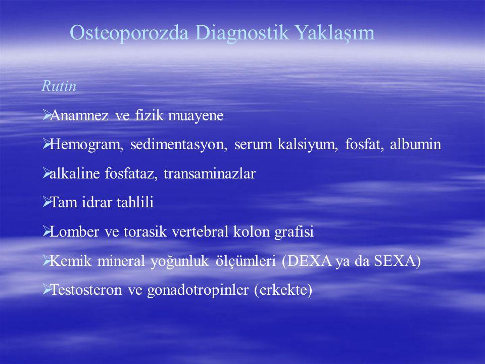Osteoporozda Diagnostik Yaklaşım