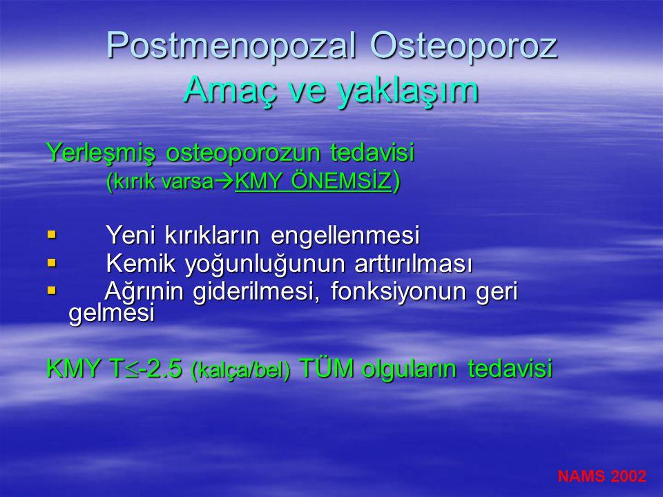 Postmenopozal Osteoporoz Amaç ve yaklaşım