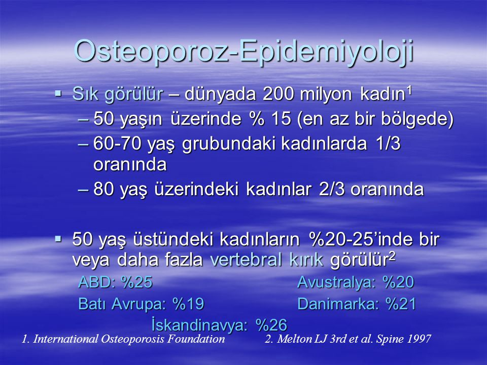 Osteoporoz-Epidemiyoloji