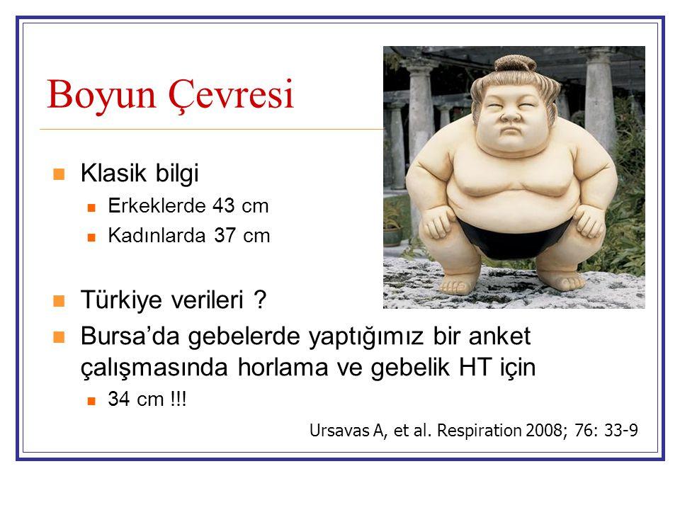 Boyun Çevresi Klasik bilgi Türkiye verileri