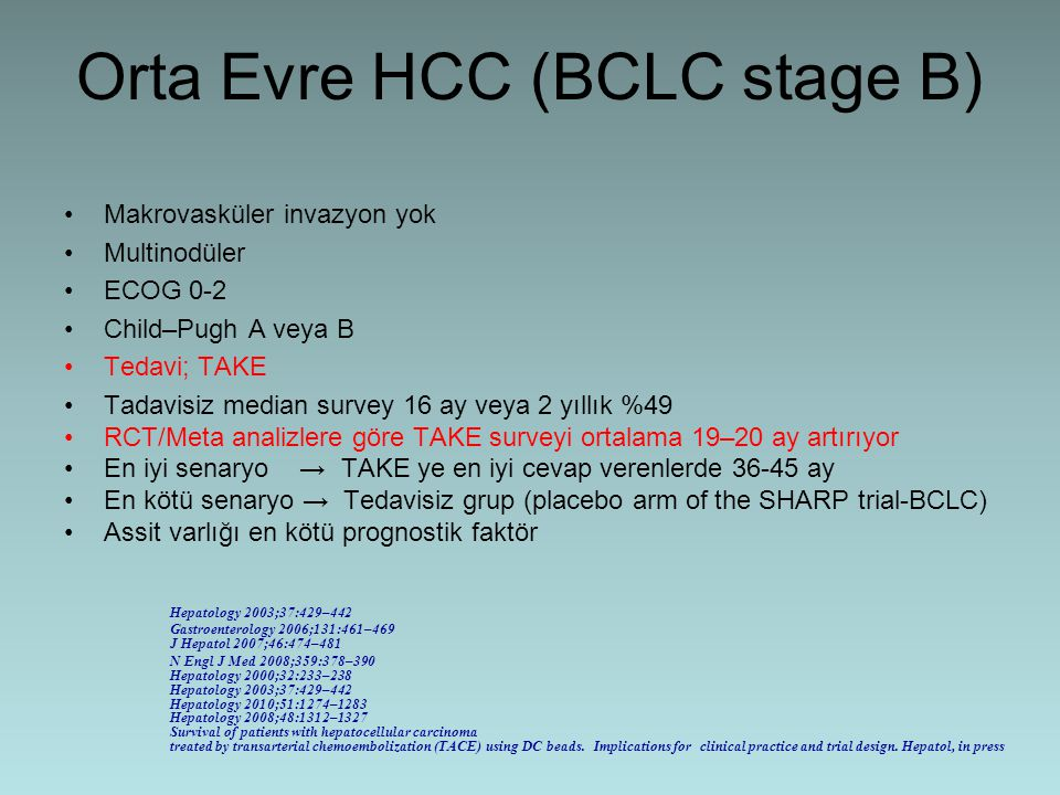Orta Evre HCC (BCLC stage B)