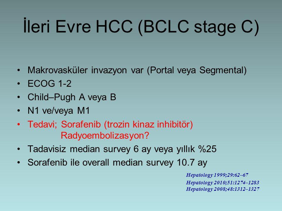İleri Evre HCC (BCLC stage C)