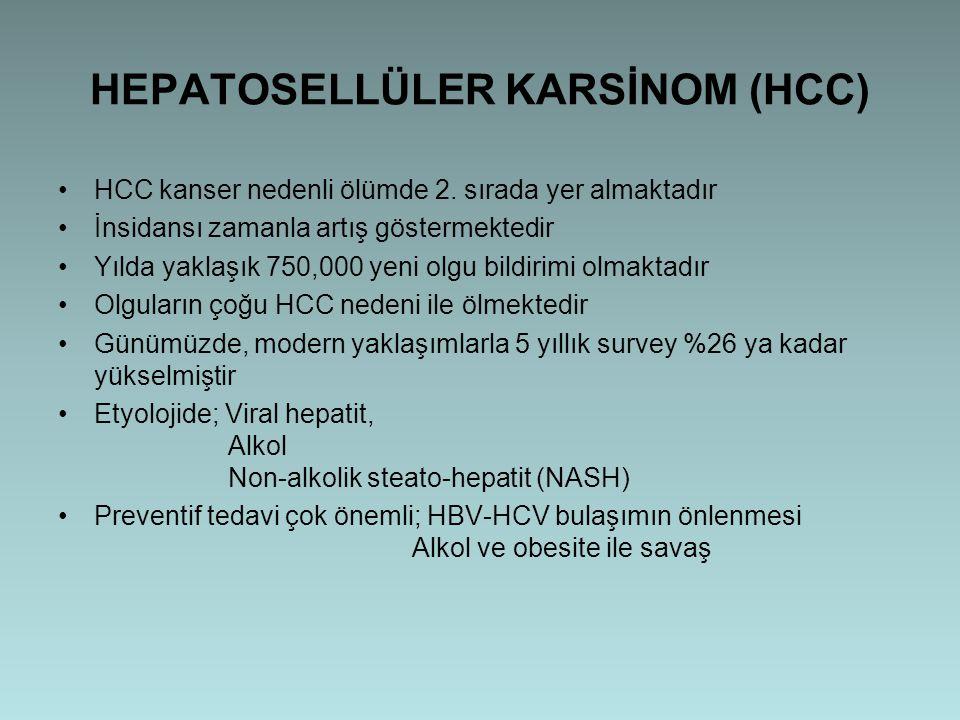 HEPATOSELLÜLER KARSİNOM (HCC)