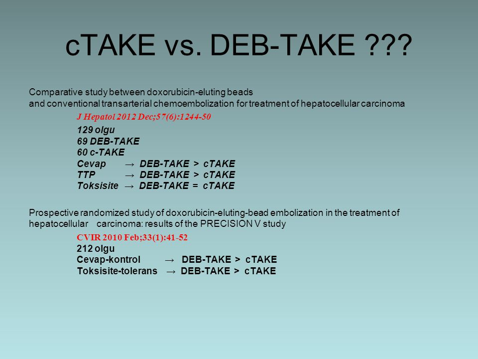 cTAKE vs. DEB-TAKE