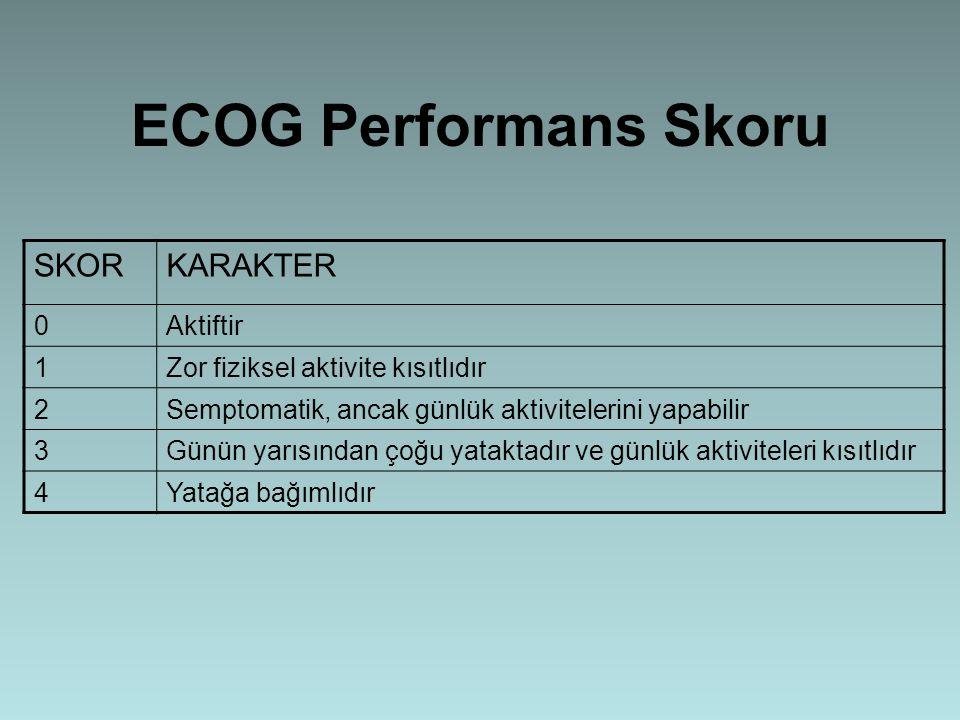 ECOG Performans Skoru SKOR KARAKTER Aktiftir 1
