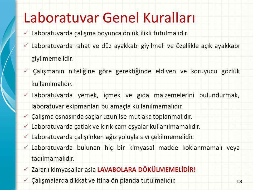 Laboratuvar Genel Kuralları