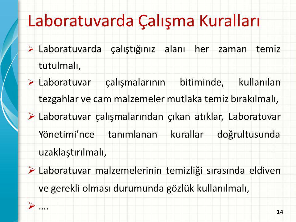 Laboratuvarda Çalışma Kuralları