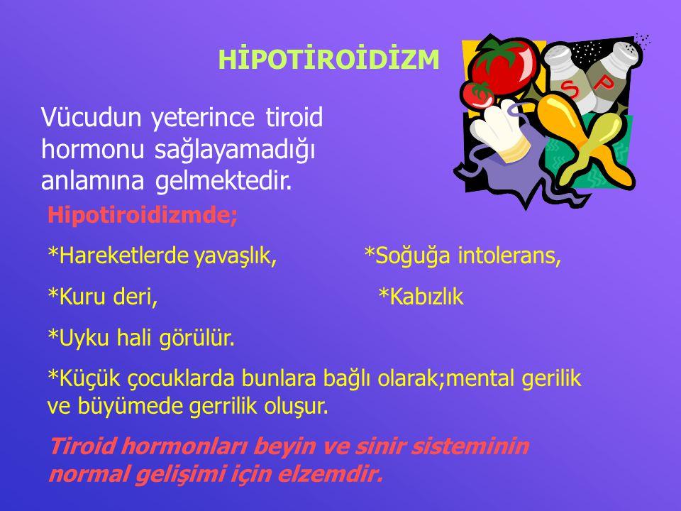 Vücudun yeterince tiroid hormonu sağlayamadığı anlamına gelmektedir.