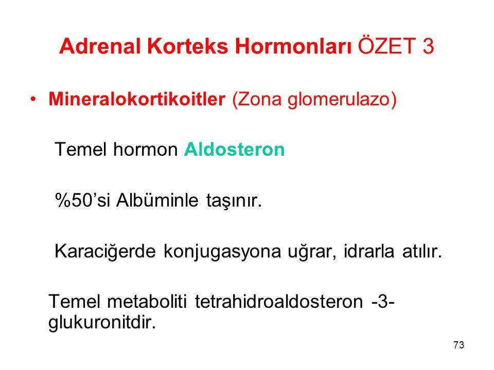 Adrenal Korteks Hormonları ÖZET 3