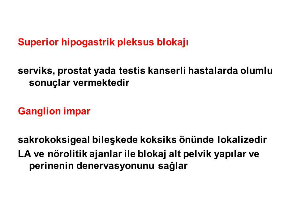 Superior hipogastrik pleksus blokajı