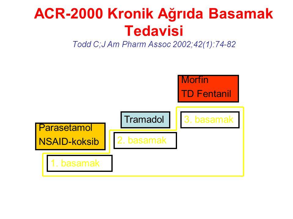 ACR-2000 Kronik Ağrıda Basamak Tedavisi Todd C;J Am Pharm Assoc 2002;42(1):74-82