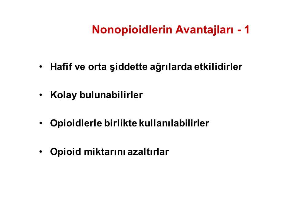 Nonopioidlerin Avantajları - 1