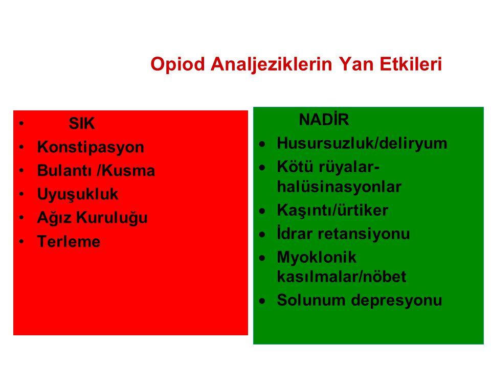 Opiod Analjeziklerin Yan Etkileri