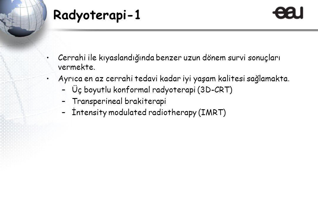 Radyoterapi-1 Cerrahi ile kıyaslandığında benzer uzun dönem survi sonuçları vermekte.
