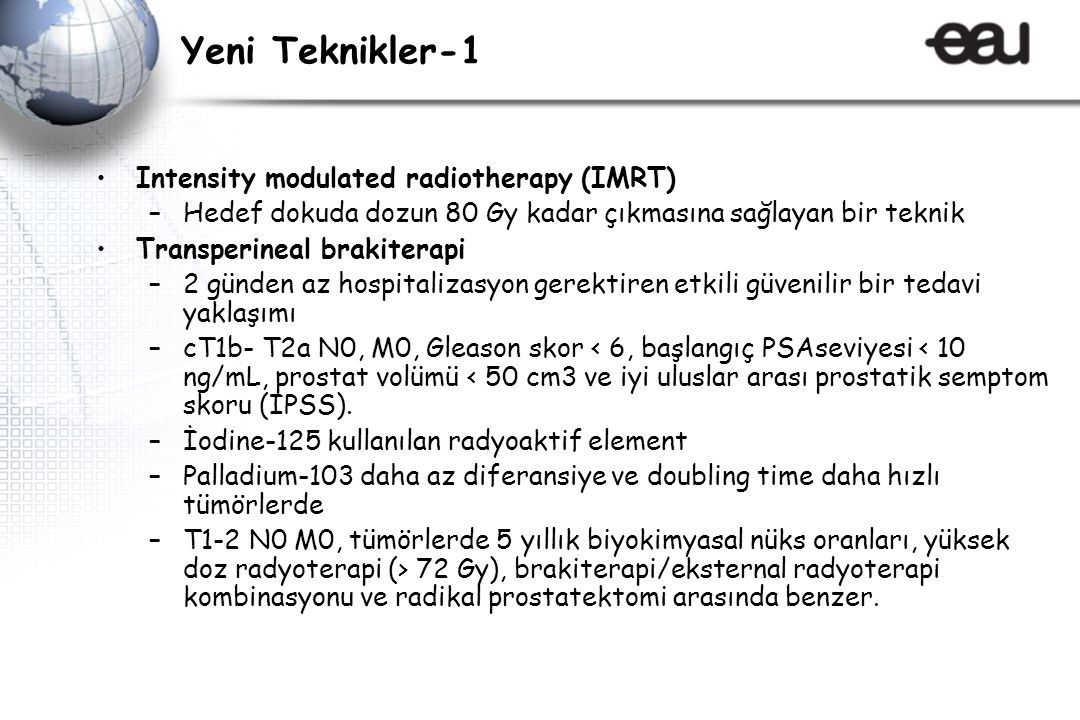 Yeni Teknikler-1 Intensity modulated radiotherapy (IMRT)