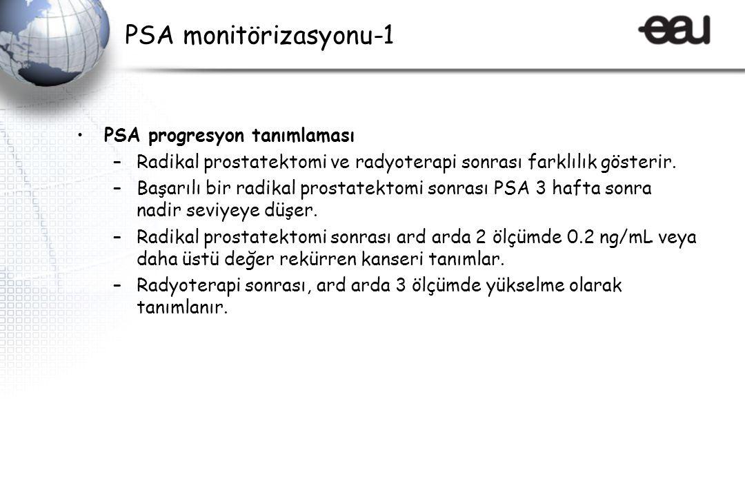 PSA monitörizasyonu-1 PSA progresyon tanımlaması