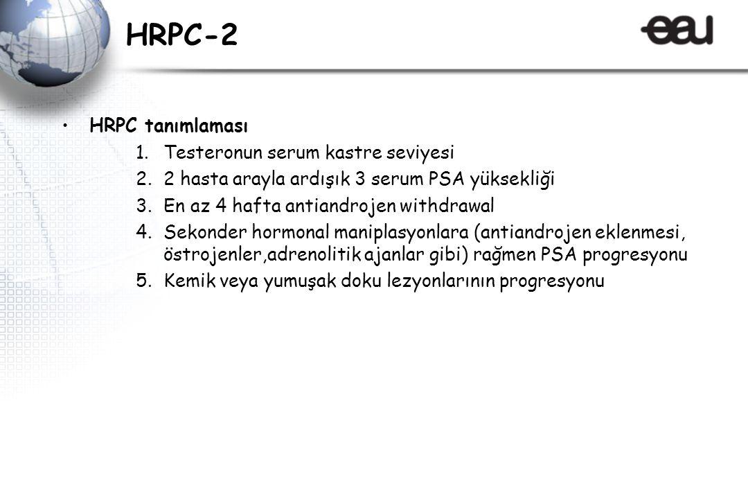 HRPC-2 HRPC tanımlaması Testeronun serum kastre seviyesi