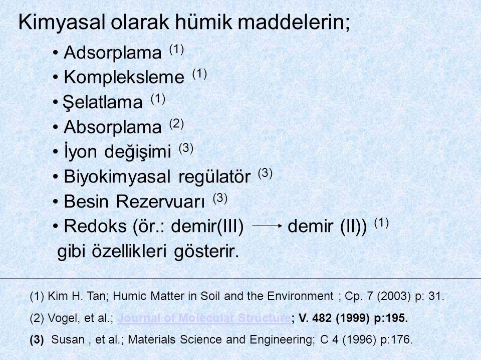 Kimyasal olarak hümik maddelerin;