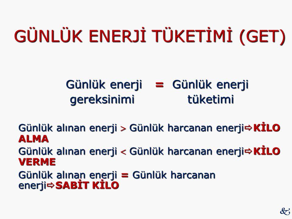 GÜNLÜK ENERJİ TÜKETİMİ (GET)