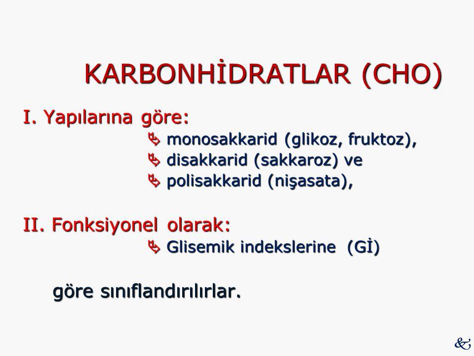 KARBONHİDRATLAR (CHO)
