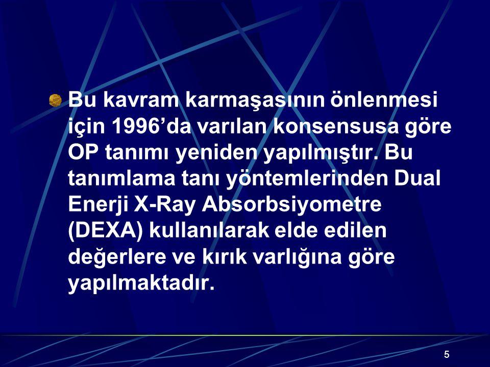 Bu kavram karmaşasının önlenmesi için 1996'da varılan konsensusa göre OP tanımı yeniden yapılmıştır.
