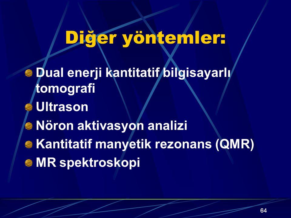 Diğer yöntemler: Dual enerji kantitatif bilgisayarlı tomografi