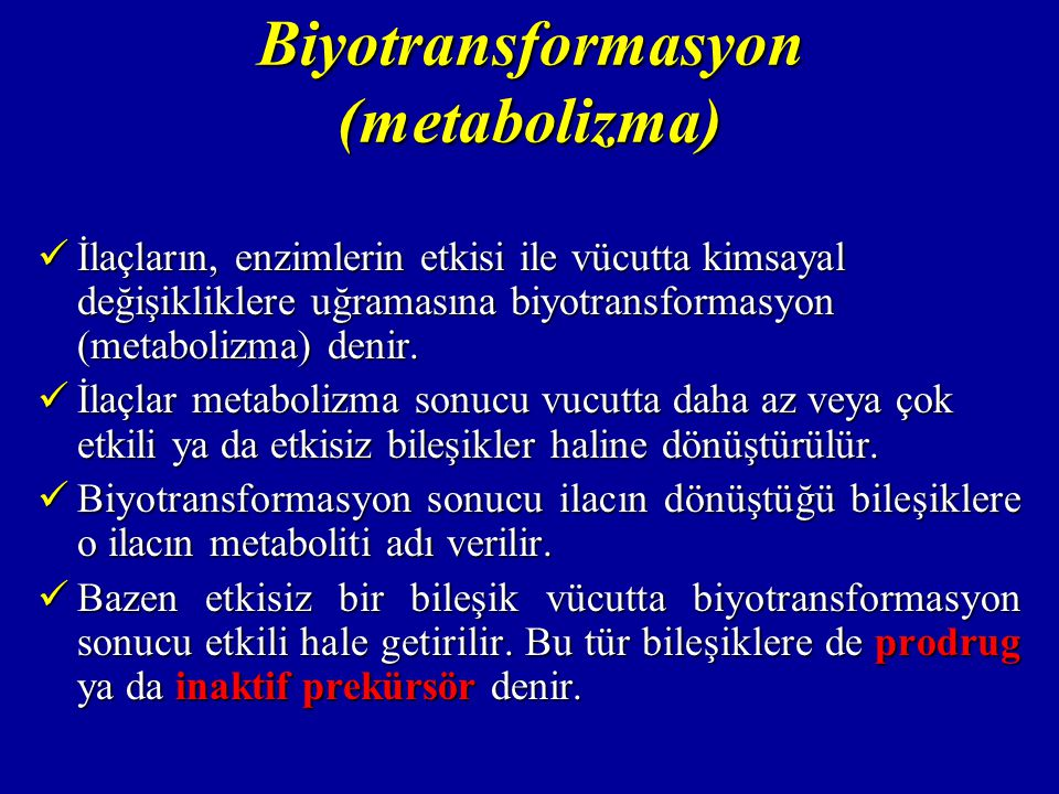 Biyotransformasyon (metabolizma)
