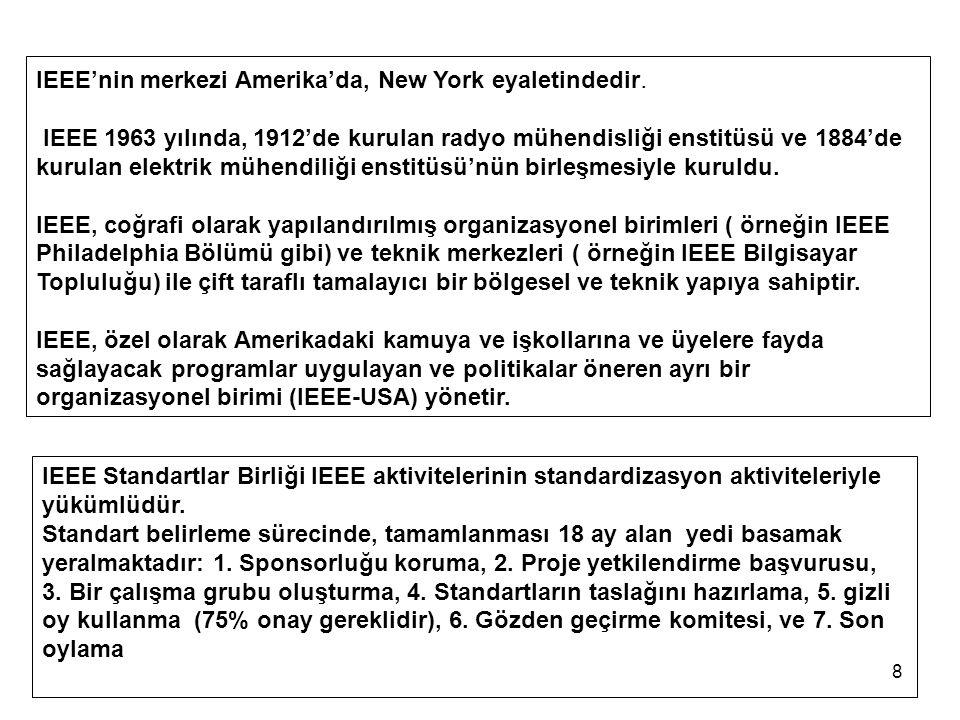 IEEE'nin merkezi Amerika'da, New York eyaletindedir.