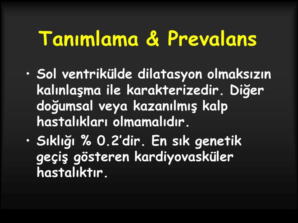 Tanımlama & Prevalans