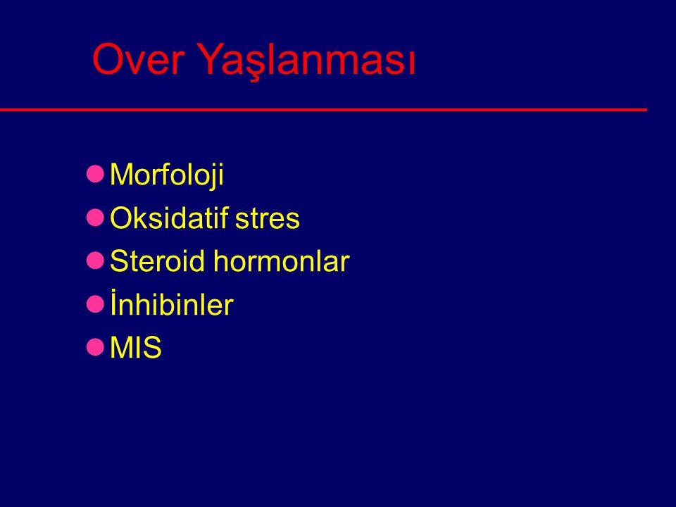 Over Yaşlanması Morfoloji Oksidatif stres Steroid hormonlar İnhibinler
