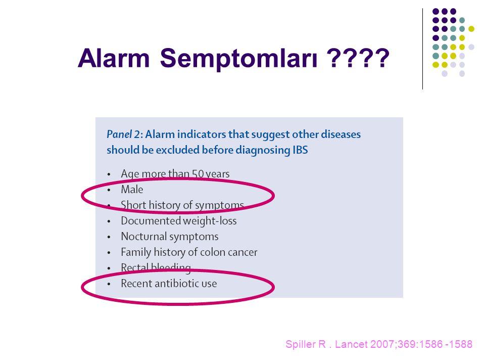 Alarm Semptomları Spiller R . Lancet 2007;369:1586 -1588