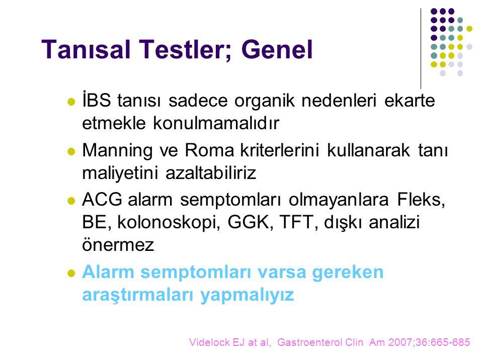 Tanısal Testler; Genel
