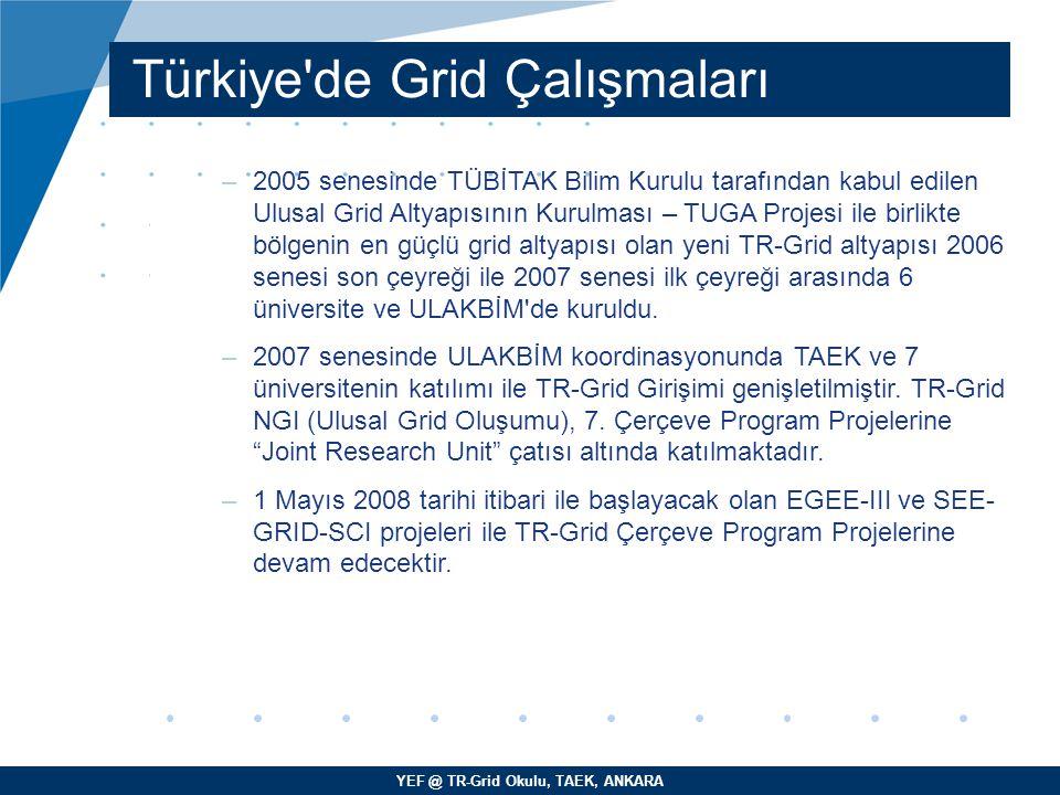 Türkiye de Grid Çalışmaları