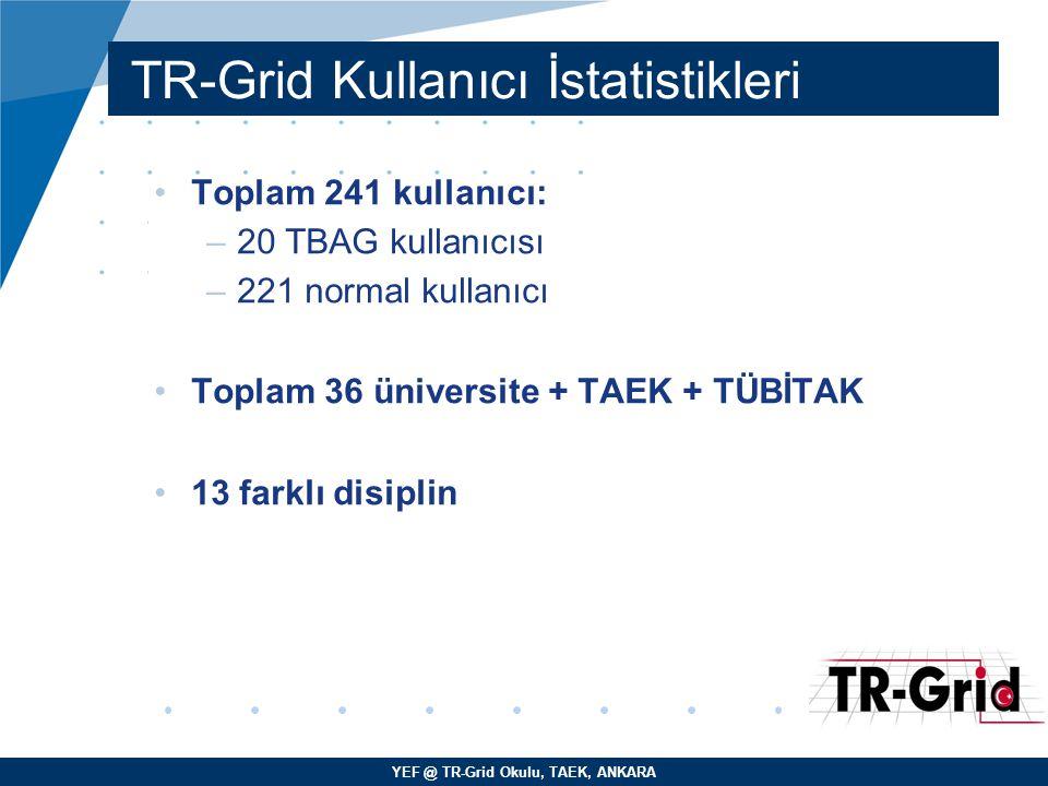 TR-Grid Kullanıcı İstatistikleri
