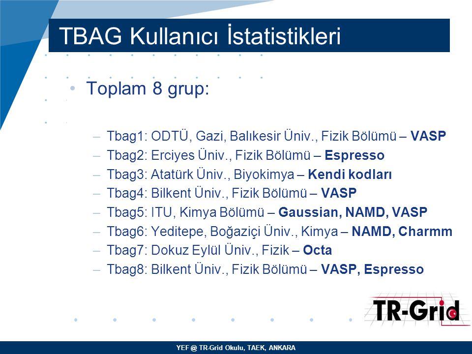 TBAG Kullanıcı İstatistikleri