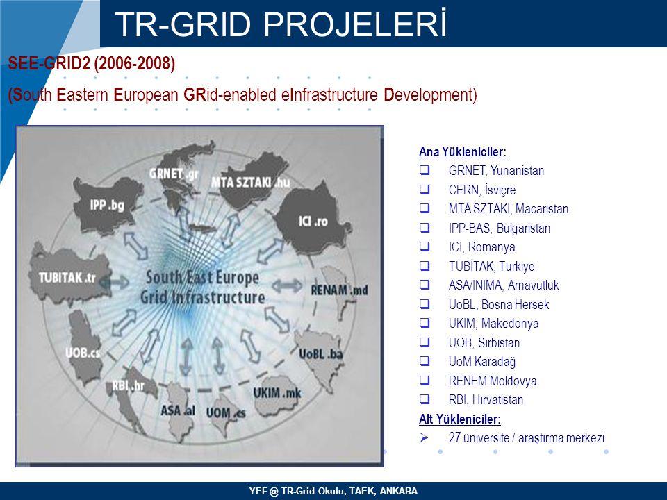 TR-GRID PROJELERİ SEE-GRID2 (2006-2008)