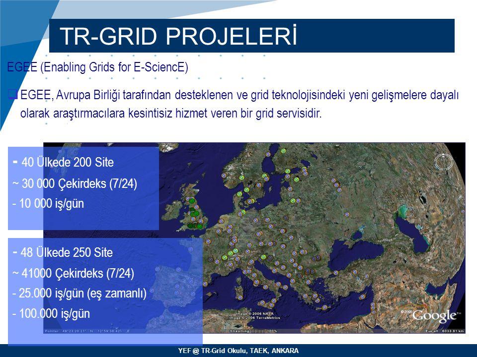 TR-GRID PROJELERİ - 40 Ülkede 200 Site - 48 Ülkede 250 Site